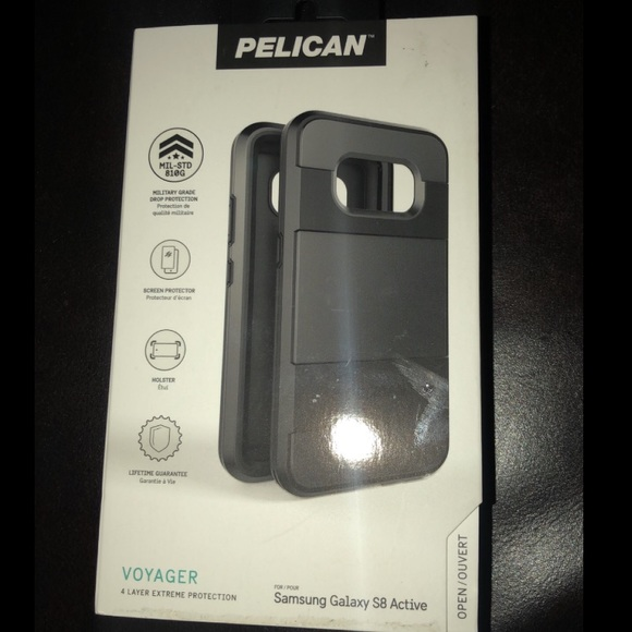 the latest 34b5a 73bd9 SAMSUNG GALAXY S8 ACTIVE PELICAN PHONE CASE NWT